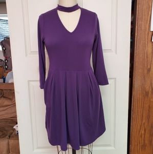 Andrew by unit purple dress with pockets